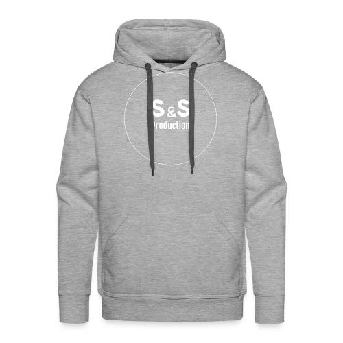 SandS. Standar kopp svart, hvit logo - Premium hettegenser for menn