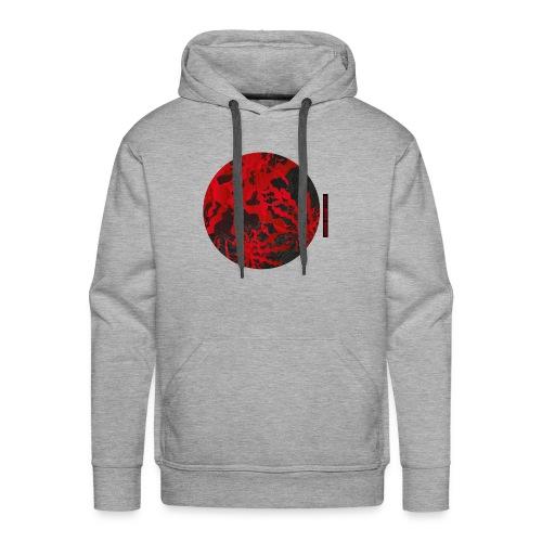Cercle Abstrait Rouge - Sweat-shirt à capuche Premium pour hommes