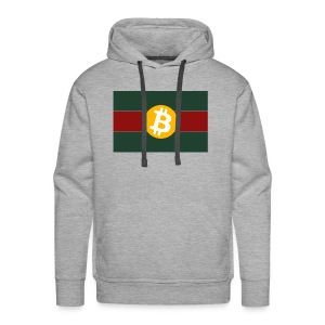 Bitcoin Logo Greed Red Flag - Männer Premium Hoodie
