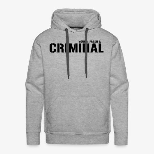 Y F CRIMINAL Logo Black - Männer Premium Hoodie