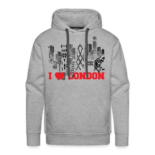 I LOVE LONDON SKYCRAPERS - Sudadera con capucha premium para hombre