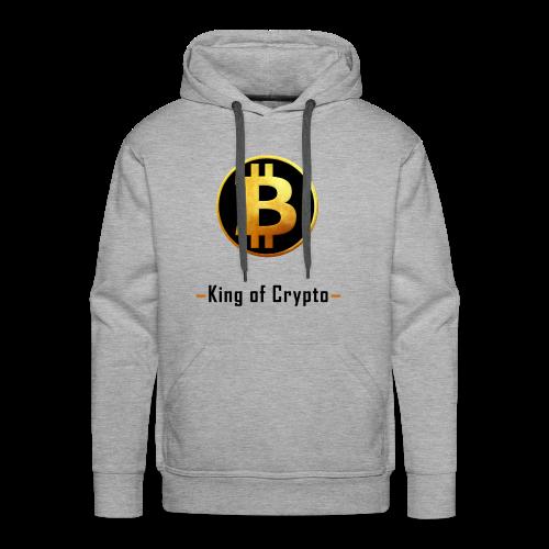 Bitcoin - King of Crypto T-Shirt by Blockawear - Männer Premium Hoodie