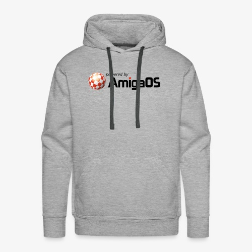 PoweredByAmigaOS Black - Men's Premium Hoodie