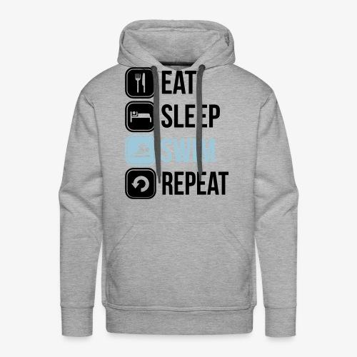 Eat Sleep Swim Repeat - Men's Premium Hoodie