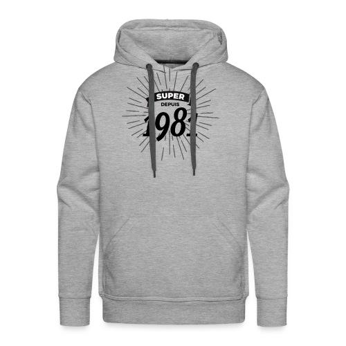 Super depuis 1981 - Sweat-shirt à capuche Premium pour hommes