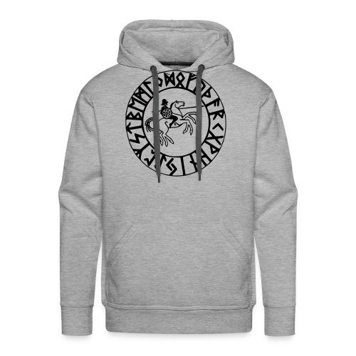 futhark odin - Sweat-shirt à capuche Premium pour hommes