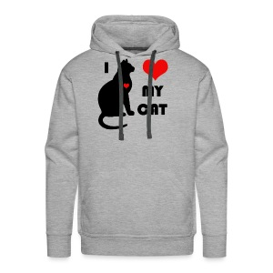 I love my cat - Sweat-shirt à capuche Premium pour hommes