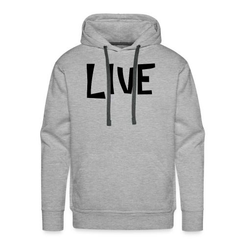 LIVE BLANC - Sweat-shirt à capuche Premium pour hommes