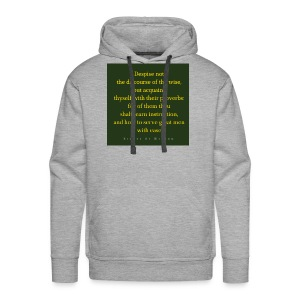 Despise not the discourse of the wise but acquain - Men's Premium Hoodie