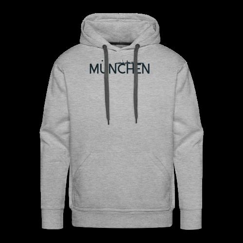 München Logo mit Skyline - Männer Premium Hoodie