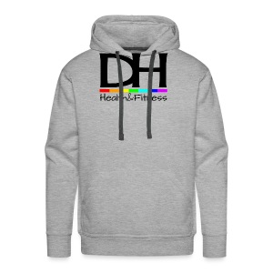 DH Health&Fitness Large logo - Men's Premium Hoodie