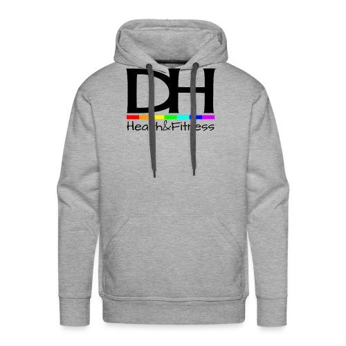 DH Health&Fitness Large logo - Men's Premium Hoodie