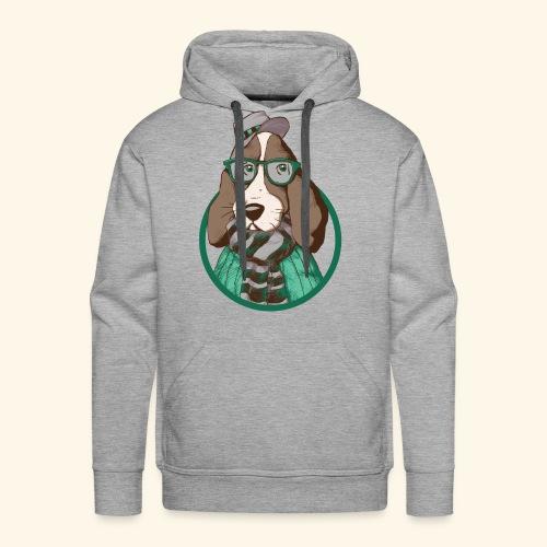 Hund mit HuT - Sudadera con capucha premium para hombre