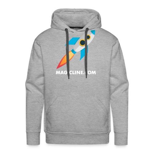 Rocket Magicline com Typo weiss DIN A3 - Männer Premium Hoodie