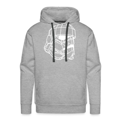 Male Stormtrooper Premium Geometrical sweater - Men's Premium Hoodie