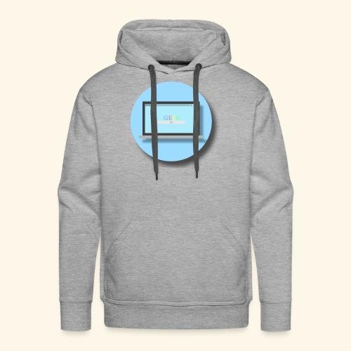 GEEK PC 1 - Flat Circle - Sweat-shirt à capuche Premium pour hommes