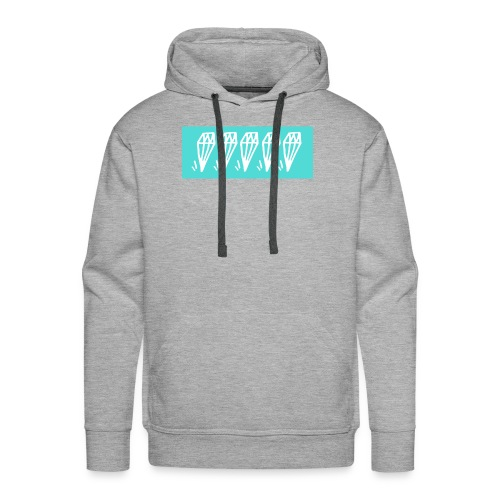 5 diamonds cyan - Men's Premium Hoodie