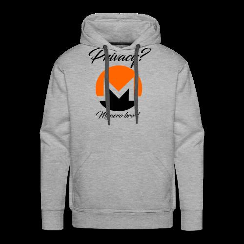Moneroooo - Sweat-shirt à capuche Premium pour hommes