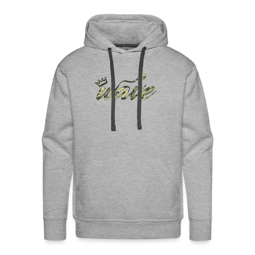 Camo Curvy Wave Clothing - Men's Premium Hoodie