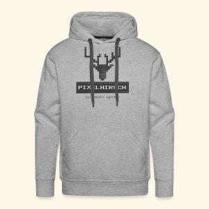 PIXELHIRSCH - grau - Männer Premium Hoodie