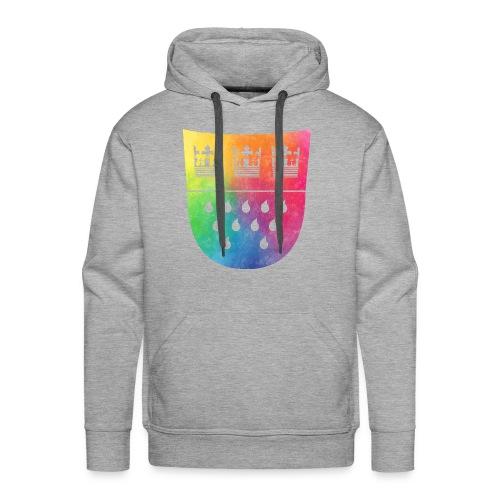 Kölner Wappen Rainbow - Männer Premium Hoodie