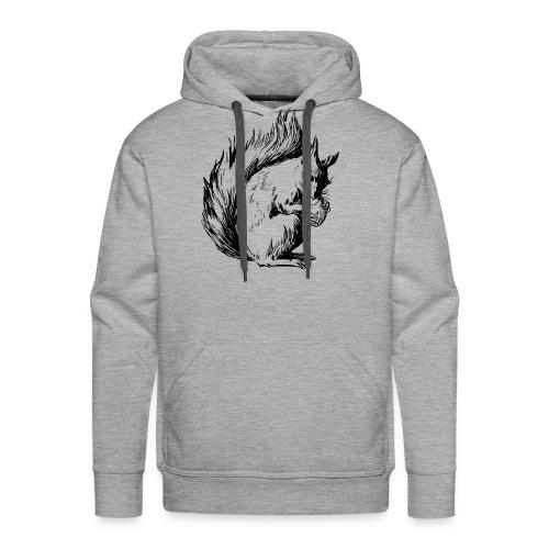 écureuil amandes - Sweat-shirt à capuche Premium pour hommes