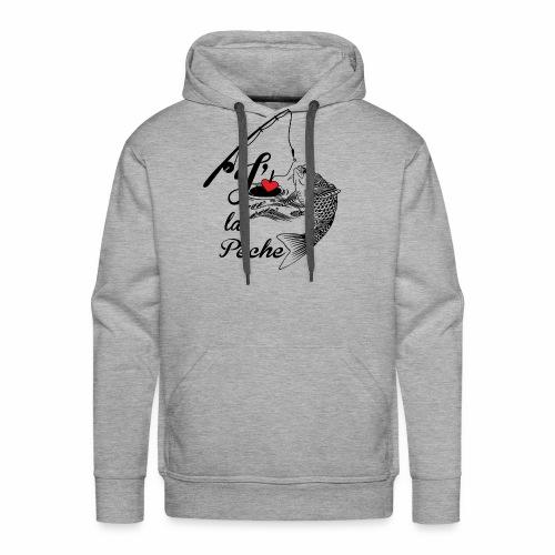 Je kiff la pêche - Sweat-shirt à capuche Premium pour hommes