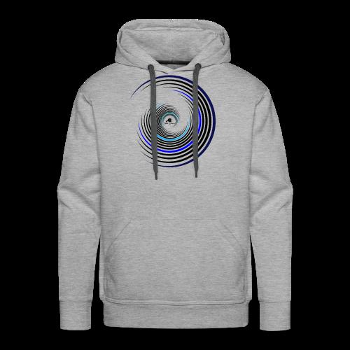 Kreise schwarz / blau - Männer Premium Hoodie