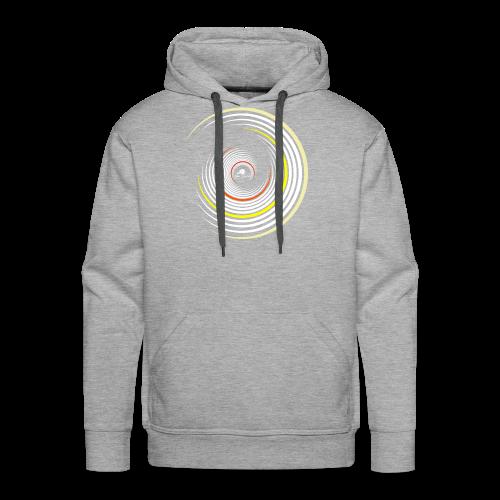 Kreise weiß / gelb - Männer Premium Hoodie