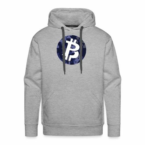 Bitcoin Private Digital Camo - Men's Premium Hoodie