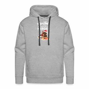 Kerstmis is leuker met een herder! - Mannen Premium hoodie