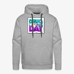 Drug Checking Day blotter - Mannen Premium hoodie