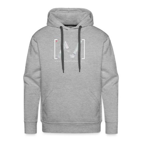 logoalpha blanc - Sweat-shirt à capuche Premium pour hommes