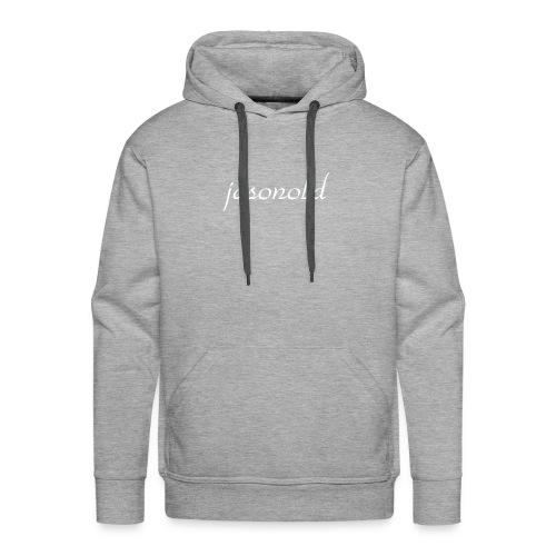 jasonold Schreibschrift Weiß - Männer Premium Hoodie