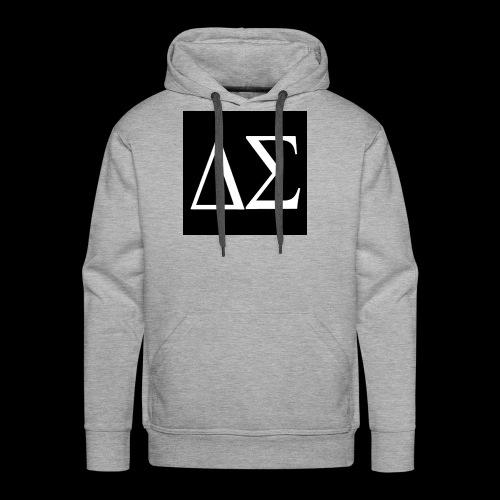 Logo blanc sur fond noir - Sweat-shirt à capuche Premium pour hommes