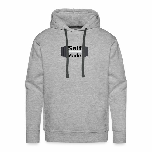 Self Made Black Text - Men's Premium Hoodie