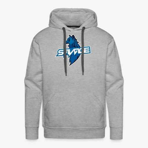 Blue Logo Savage Wolf - Men's Premium Hoodie