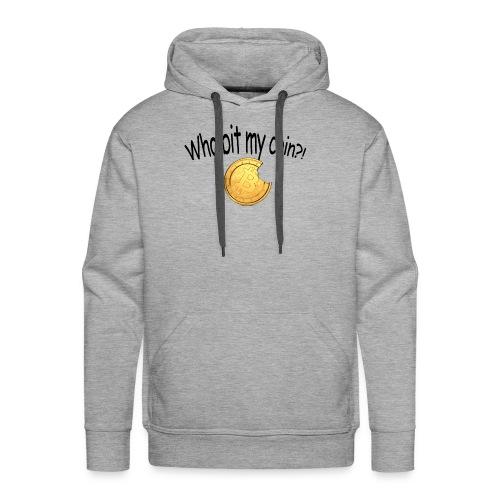 Bitcoin bite - Mannen Premium hoodie