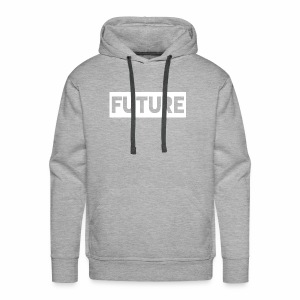 Future Clothing - Text Rectangle (White) - Men's Premium Hoodie