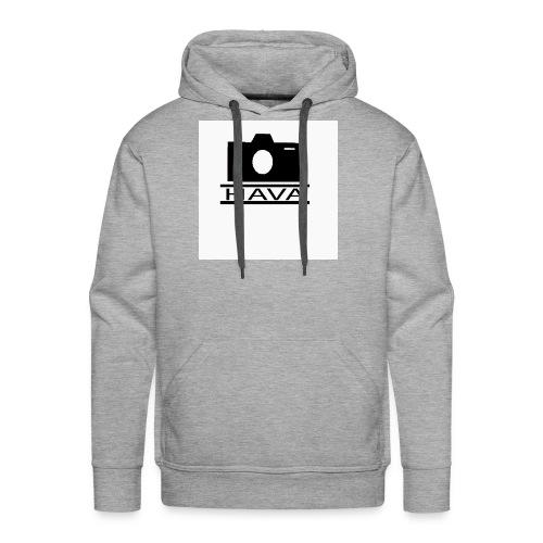 HAVA loggo svart vit - Premiumluvtröja herr