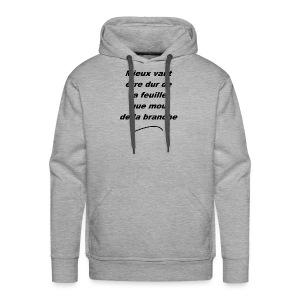 durDeLaFeuille-v1 - Sweat-shirt à capuche Premium pour hommes