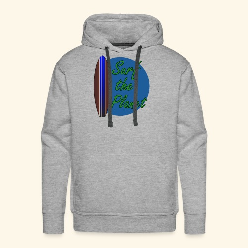 Surf the Planet - Männer Premium Hoodie