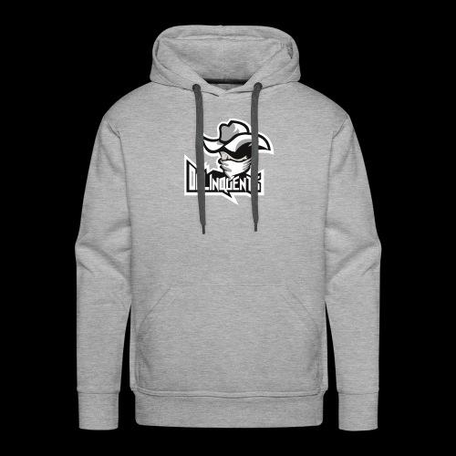 Delinquents Grå Design - Herre Premium hættetrøje