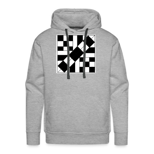 checker patterned art - Men's Premium Hoodie