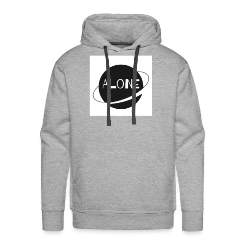 Alone planet white background - Men's Premium Hoodie