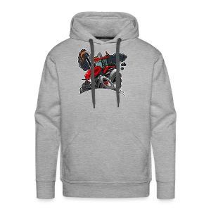 TRACTOR white border - Mannen Premium hoodie