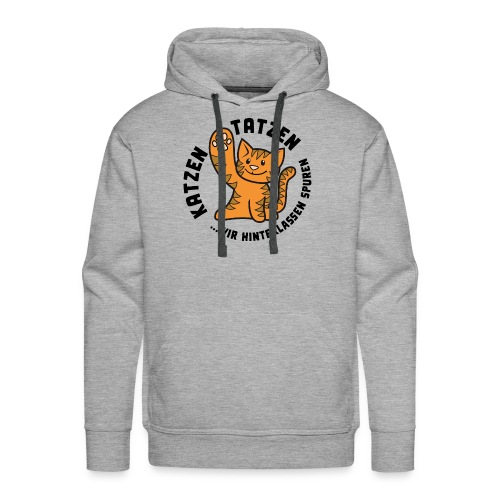 Katzentatzen Logo - Männer Premium Hoodie