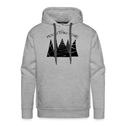 Outdoor Berge Alpen Mountain Love - Männer Premium Hoodie