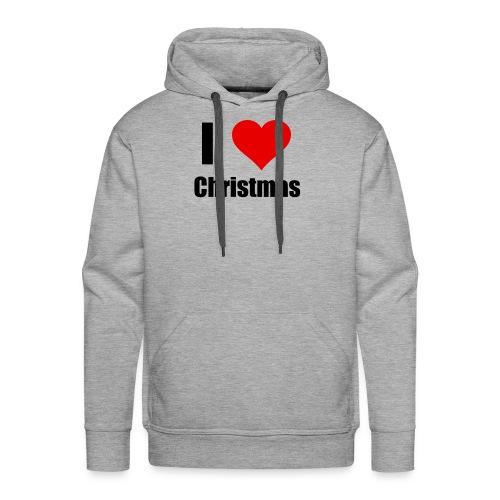 I LOVE CHRISTMAS - Männer Premium Hoodie
