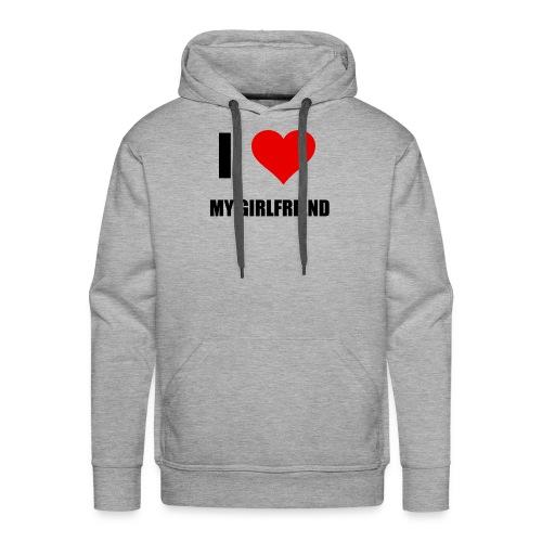 I LOVE MY GIRLDFRIEND - Männer Premium Hoodie